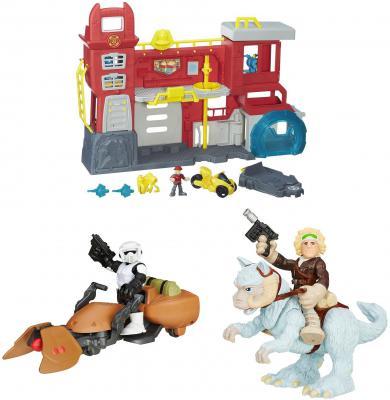 Игровой набор Hasbro Playskool Heroes ТРАНСФОРМЕРЫ СПАСАТЕЛИ: Штаб спасателей B5210 + фигурка Звездных войн и транспортное средство B2033