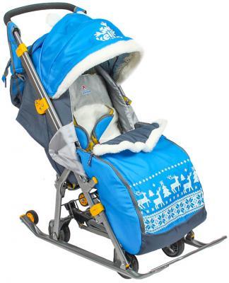 Санки-коляска Kelkka Arctic до 50 кг синий металл 159186