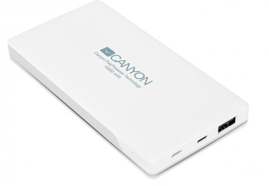 Портативное зарядное устройство Canyon CNS-TPBP10W 10000мАч белый портативное зарядное устройство canyon cns tpbp10w 10000мач белый