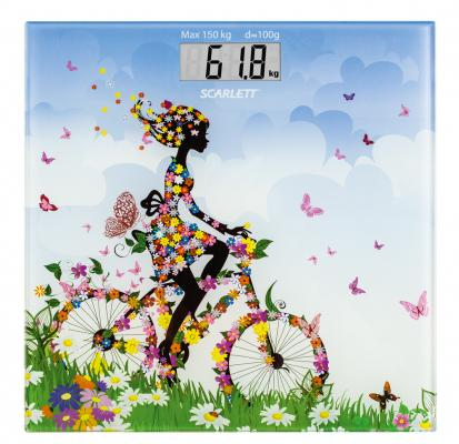 Весы напольные Scarlett SC-BS33E070 разноцветный рисунок