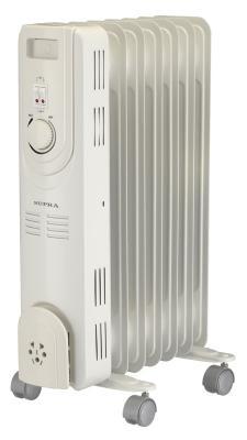Масляный радиатор Supra ORS-07-S2 1500 Вт термостат ручка для переноски белый