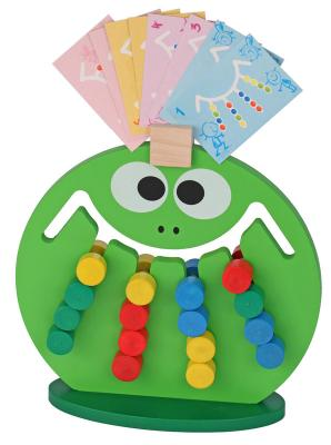 Логическая игрушка Краснокамская игрушка ЛИ-01 Лягушка краснокамская игрушка деревянная пирамидка краснокамская игрушка семицветик