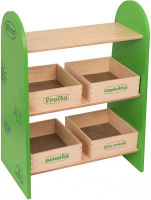 Набор мебели Краснокамская игрушка Магазин с четырьмя ящичками КМ-04