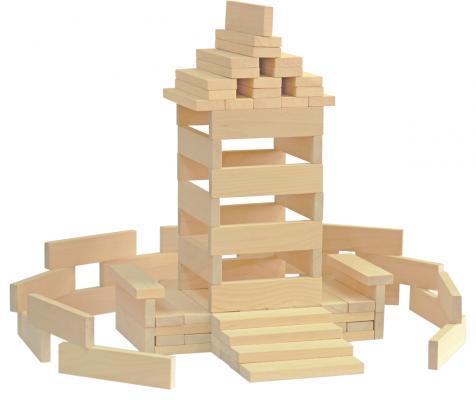 Конструктор Краснокамская игрушка К-04 Брусочки строительные 122 элемента конструктор краснокамская игрушка к 02 пираты 40 элементов