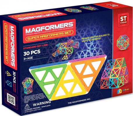 Магнитный конструктор Magformers Супер - 30 30 элементов 63078/701008 магнитный конструктор magformers space treveller set 35 элементов 703007