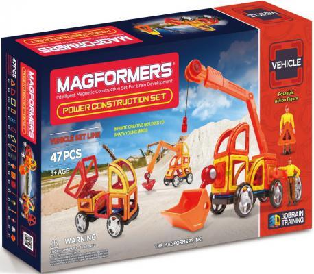 Магнитный конструктор Magformers Power Construction Set 47 элементов 63090/707002