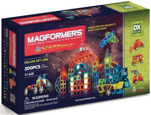 Магнитный конструктор Magformers S.T.E.A.M. Basic 240 элементов 60507/710008 магнитный конструктор magformers space treveller set 35 элементов 703007