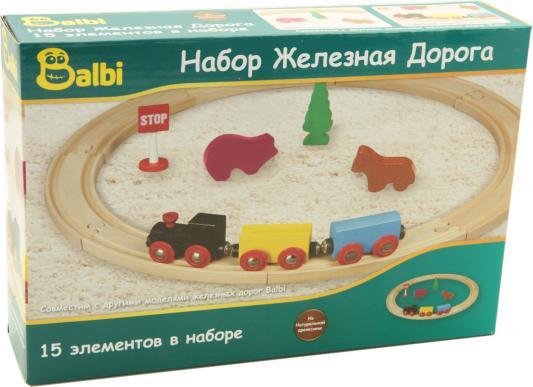 Конструктор BALBI Железная дорога,15 деталей WT-069