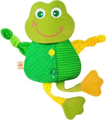 Мягкая игрушка-грелка лягушонок МЯКИШИ Доктор Мякиш текстиль зеленый 39 см 228 мякиши игрушка грелка доктор мякиш сова