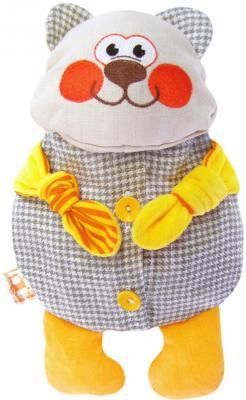 Мягкая игрушка-грелка медведь МЯКИШИ Доктор Мякиш-Мишутка текстиль серый желтый 31 см 178 мякиши игрушка грелка доктор мякиш сова