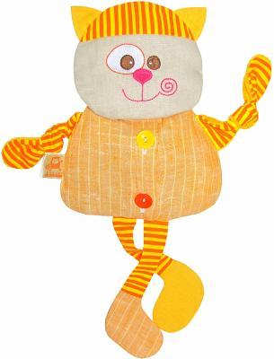 Мягкая игрушка-грелка кот МЯКИШИ Доктор Мякиш ткань оранжевый 35 см 232 мякиши игрушка грелка доктор мякиш пингвин