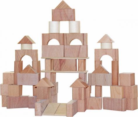Конструктор Краснокамская игрушка Строим сами неокрашенный НСК-06 66 элементов краснокамская игрушка деревянная пирамидка краснокамская игрушка семицветик