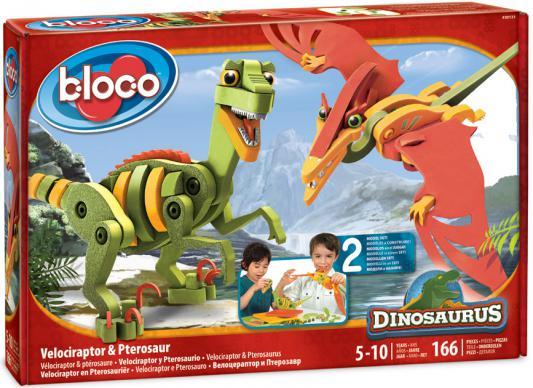 """Конструктор Bloco """"Динозавры"""" - Велоцираптор и Птерозавр 166 элементов 30131"""