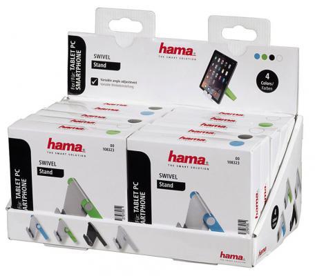 Держатель Hama Swivel 00108323 для телефона черный/голубой/зеленый/белый