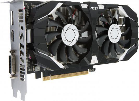 Видеокарта 2048Mb MSI GeForce GTX1050 2GT OC PCI-E 192bit GDDR5 DVI HDMI DP HDCP GTX GTX1050 2GT OC Retail