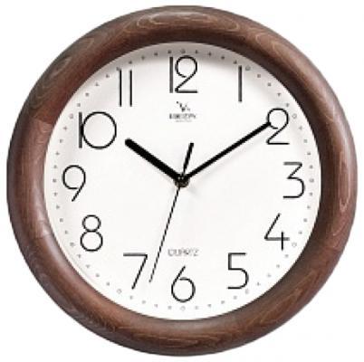 Часы настенные Вега Д 1 МД/7 4 белый коричневый кронштейн kromax vega 50 белый