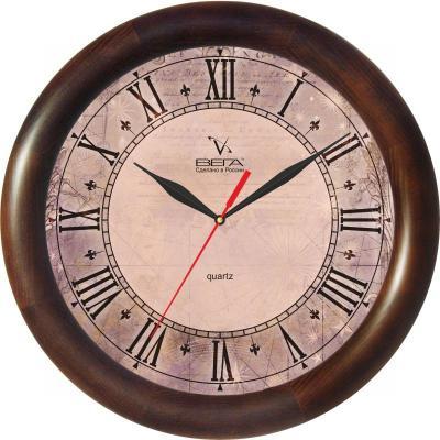 Часы настенные Вега Римские Д-1-МД/6-139 коричневый