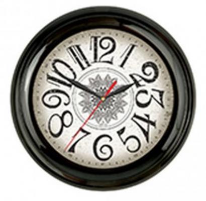 Часы настенные Вега П 6-6-37 чёрный часы настенные вега п 6 6 100 чёрный