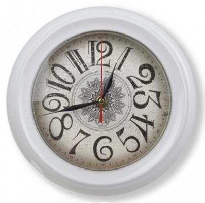 Часы настенные Вега П 6-7-37 белый часы настенные вега п 4 14 7 86 новогодние подарки
