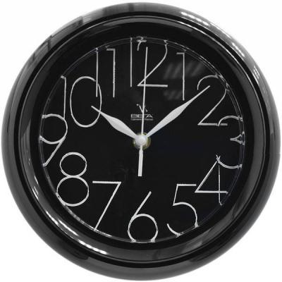 Часы настенные Вега П6-6-30 белый чёрный