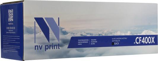 Картридж NV-Print CF400X для HP Laser Jet Pro M252 MFP M277 CF400A черный 2300стр картридж nv print hp c4092a для 1100 1100a 3200