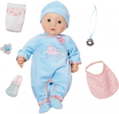 Кукла ZAPF Creation Baby Annabell Мальчик многофункциональный 43 см пьющая плачущая писающая со звуком аксессуары для кукол zapf игрушка baby annabell памперсы