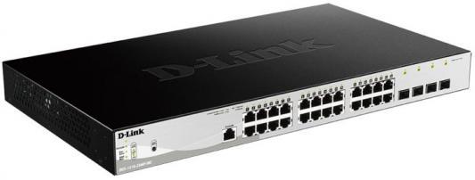все цены на Коммутатор D-Link DGS-1210-28/ME/B1A управляемый 24 порта 10/100/1000Mbps 4xSFP