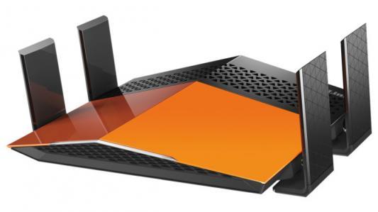 Беспроводной маршрутизатор D-Link DIR-879/A1A 802.11aс 1900Mbps 2.4 ГГц 5 ГГц 4xLAN RJ-45 черный оранжевый маршрутизатор d link dir 620 a e1a 802 11bgn 300mbps 2 4 ггц 4xlan usb usb черный