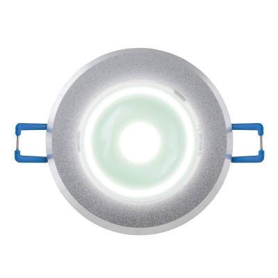 Светодиодный встраиваемый светильник (07621) Uniel 4500K ULM-R31-5W/NW IP20 Sand Silver uniel ulo cl120 40w nw silver