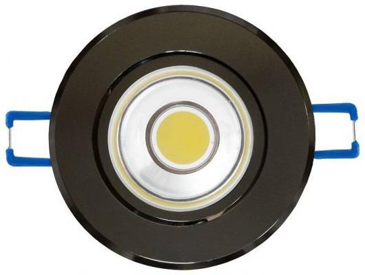 Светодиодный встраиваемый светильник (08786) Uniel 4500K ULM-R31-5W/NW IP20 Black Chrome