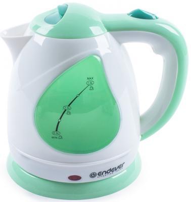 Чайник ENDEVER 349-KR 2100 Вт зелёный белый 1.5 л пластик пылесосы endever пылесос