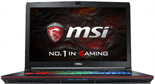 "Ноутбук MSI GE72VR 6RF(Apache Pro)-213RU Core i7 6700HQ/16Gb/1Tb/SSD128Gb/DVD-RW/nVidia GeForce GTX 1060 3Gb/17.3""/FHD (1920x1080)/Windows 10/black/WiFi/BT/Cam"