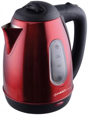 Чайник First 5410-6 1800 Вт красный 1.8 л металл