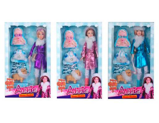 Кукла Shantou Gepai Abbie Зимняя, с аксесс., в ассорт., кор. 29 см