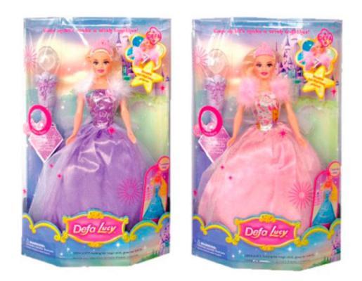 Кукла Defa Luсy Фея с аксесс., свет,  в ассорт., кор. 8003 кукла defa lucy 8305a