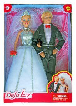 Игровой набор кукол Defa Lucy Свадьба, кор 8305 defa набор кукол lucy русалки сестры цвет фиолетовый голубой 2 шт