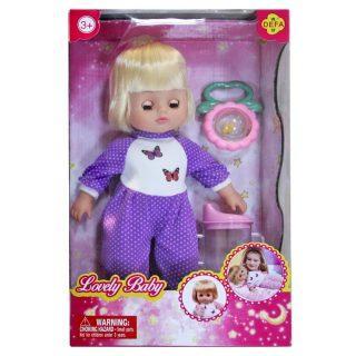 Кукла Defa Luсy Любимый малыш, 29 см, в сиренев. костюме, с аксесс., кор. 5063/purple defa toys кукла lucy happy wedding цвет платья розовый