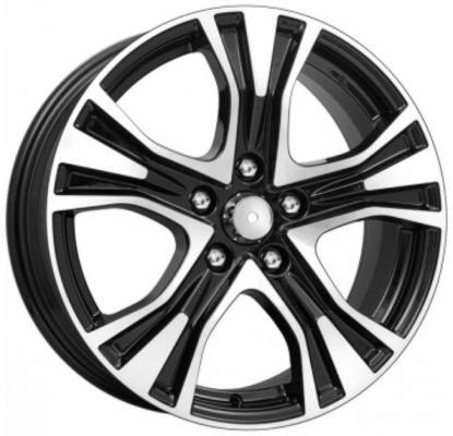 диск replikey toyota camry 7xr17 5x114 3 мм et45 bkf [rk0806] Диск K&K Toyota Camry КСr673 7xR17 5x114.3 мм ET45 Алмаз черный 63568