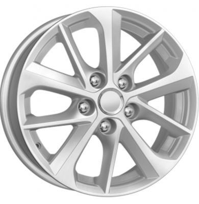 Диск K&K Toyota Corolla (КСr658) 6.5xR16 5x114.3 мм ET45 Сильвер 34544 штампованный диск magnetto wheels toyota corolla 6 5 r16 5x114 3 d60 1 et45 black