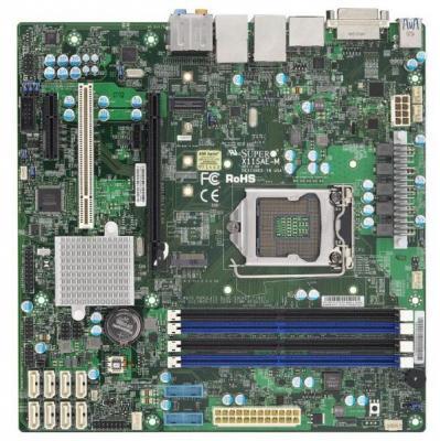 Мат. плата для ПК Supermicro MBD-X11SAE-M-O Socket 1151 C236 4xDDR4 1xPCI 1xPCI-E 4x 8xSATAIII mATX