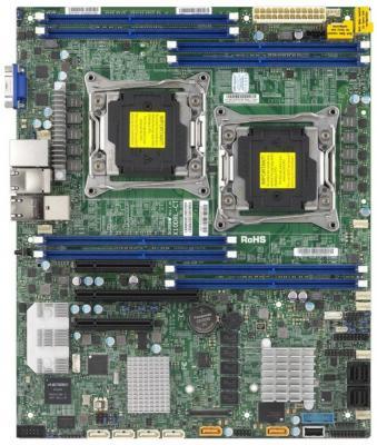 Мат. плата для ПК Supermicro MBD-X10DRL-IT-O 2 х Socket 2011-3 C612 8xDDR4 1xPCI-E 16x 2xPCI-E 8x 6xSATAIII ATX Retail