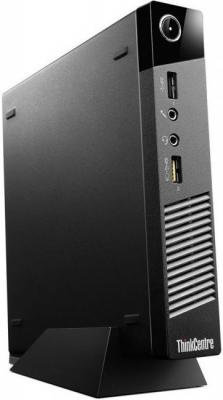 ПК Lenovo ThinkCentre M53 Tiny slim Cel J1800 (2.41)/4Gb/500Gb/HDG/Free DOS/Eth/WiFi/65W/черный