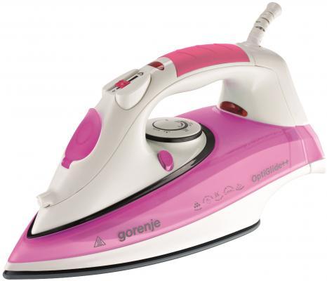 Утюг Gorenje SIH 2200PC 2200Вт розовый белый утюг gorenje sih 2200ps 2200вт белый фиолетовый
