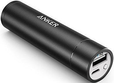 Портативное зарядное устройство Anker PowerCore mini 3350 Black Offline Package V3 A1108H11