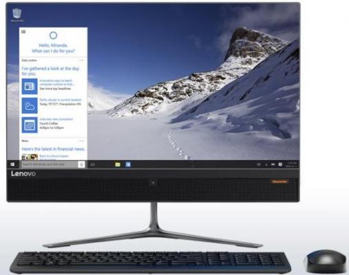 "Моноблок 21.5"" Lenovo IdeaCentre AIO510-22ISH 1920 x 1080 Intel Core i3-6100T 4Gb 1Tb Radeon R5 M435 2048 Мб DOS черный F0CB00FBRK"