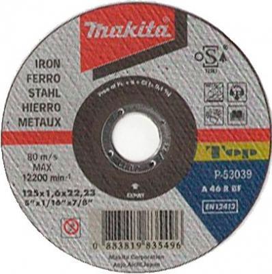 Отрезной диск Makita 125х22.2х1.6мм по металлу P-53039
