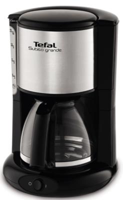лучшая цена Кофеварка Tefal CM361838 серебристый/черный