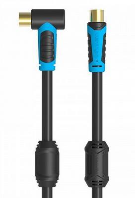 Кабель антенный Vention M/M угол 90 - 1,5м VAV-A02-B150 кабель антенный vention m m 1 5m vav a02 b150