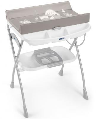 Купить Стол пеленальный с ванночкой Cam Volare (цвет 227), серый, металл/ пластик, Столы для пеленания