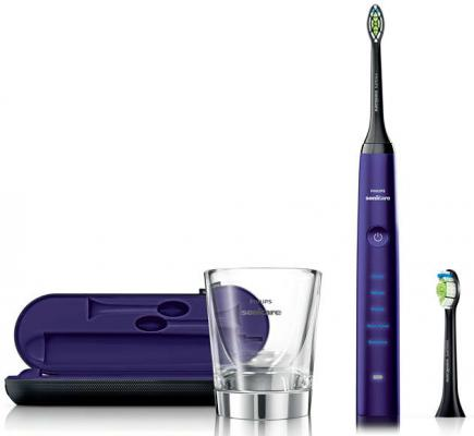 Зубная щётка Philips Sonicare DiamondClean HX9372/04 сиреневый 2pcs philips sonicare replacement e series electric toothbrush head with cap